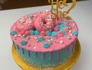 Drip Cake - Gender reveal dripcake roze drip