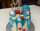Drip Cake - Babyshower dripcake boy