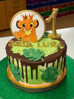 Drip Cake - Drip cake in thema Simba Lion King